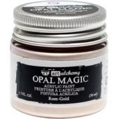 Finnabair Art Alchemy Opal Magic Acrylic Paint Opal Magic Rose/Gold