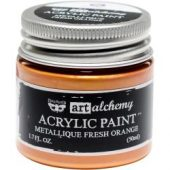 Finnabair Art Alchemy Acrylic Paint Metallique Fresh Orange