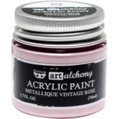 Finnabair Art Alchemy Acrylic Paint Metallique Vintage Rose