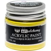 Finnabair Art Alchemy Acrylic Paint Metallique Pure Sunshine