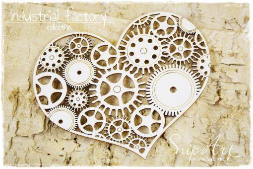 Industrial Factory - serce z trybików
