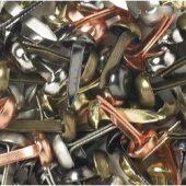 "Doodlebug Mini Brads .125"" 100/Pkg-Metallic"