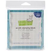 Lawn Fawn Acrylic Stamping Block W/Grid-Lawn Fawn Acrylic Stamping Block W/Grid