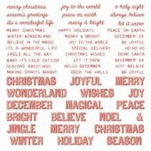 Idea-Ology Chipboard -Christmas, Words & Phrases