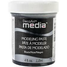 DecoArt Media Modeling Paste 4oz-svart