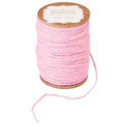 Jute Spool Cord -Light Pink