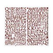 Alphabet Glitter Stickers Rød