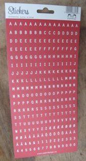 Papirdesign: Bokstavklistremerker - Rød