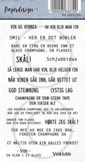 Papirdesign-Klistermerker - Vin