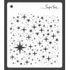 stensil med stjerner og prikker