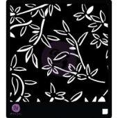 """Prima Designer Stencil 6""""X6"""" - Bamboo Leaves"""