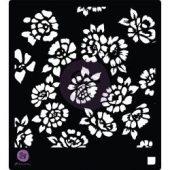 """Prima Designer Stencil 6""""X6"""" - Wild Flowers"""