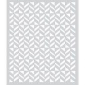 Basic Grey Vivienne Frosted Mylar Stencil -Flag Pattern