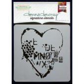 "Donna Downey Signature Stencils 8.5""X8.5"" - Heart Texture"