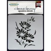 "Donna Downey Signature Stencils 8.5""X8.5"" - Painted Flowers"