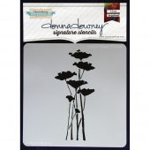 "Donna Downey Signature Stencils 8.5""X8.5"" - Poppy Forest"