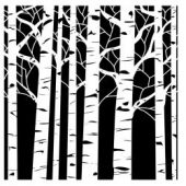 "Crafter's Workshop Template 12""X12"" - Aspen Trees"
