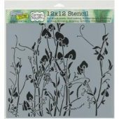 "Crafter's Workshop Template 12""X12"" - Sweetpeas"