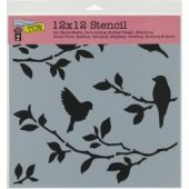 "Crafter's Workshop Template 12""X12"" - Birds On Branches"