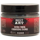 Melt Art Ultra Thick Embossing Enamel 3oz-Platinum