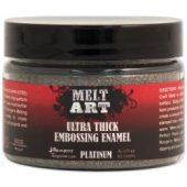 Melt Art Ultra Thick Embossing Enamel 3oz-Platinum