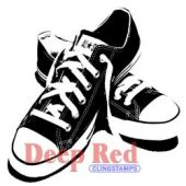 All Star Sneakers - Deep Red Cling Stamp