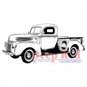 Classic Pickup Truck - Deep Red Cling Stamp