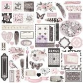 Rose Quartz Ephemera Cardstock Die-Cuts