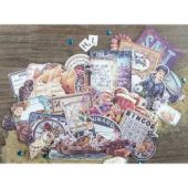 French Riviera Ephemera Cardstock Die-Cuts 50/Pkg