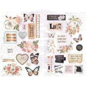 Apricot Honey Chipboard Stickers