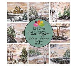 Winter Lake -Dixi Craft Dixi Toppers 9x9cm