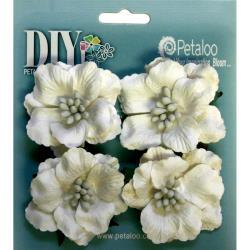 Darjeeling Ruffled Roses -White