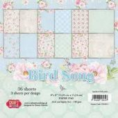 Craft&You - Bird Song - Small Paper Pad-  6x6 -  36 sheets