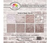 Dixi Craft - Bricks & Planks Brown - 6x6