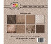 Dixi Craft- 6x6 -Steel Background - Brown