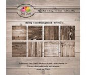 Dixi Craft -Rustiq Wood Background - Brown