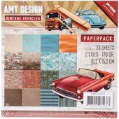 "Vintage Vehicles - Amy Design Paper - Pack 6""X6"""