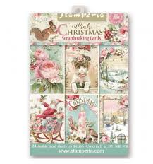 Stamperia  - 11,4 x 16,5 cm cards - Pink christmas