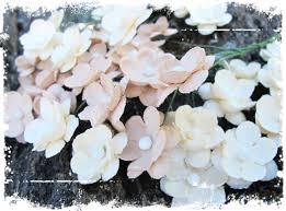 Papirdesign - Søte Blomster - Beige