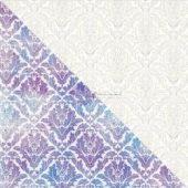 "White Diagonal Pattern - Elementals Resist Canvas 12""X12"""
