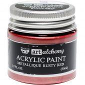 Metallique Rusty Red -Finnabair Art Alchemy Acrylic Paint