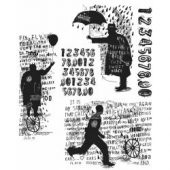 """Sideshow - Tim Holtz Cling Stamps 7""""X8.5"""""""