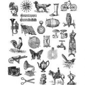 Tiny Things 2 - Tim Holtz Collection - Cling Stamps