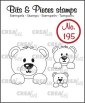 Bits & Pieces stamp no. 195, 3x Bears