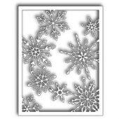 Scattered Snowflake Frame
