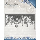 Edge Snowflake Swirl, Vintage Winter