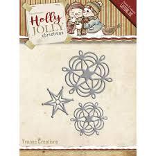 Snowflake & Star, Holly Jolly