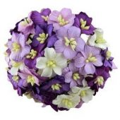 50 MIXED PURPLE MULBERRY PAPER APPLE BLOSSOM