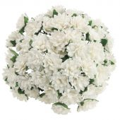 50 White MULBERRY PAPER ASTER DAISY STEM
