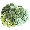 GREEN MULBERRY PAPER OPEN ROSES
